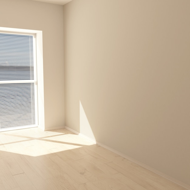 3d contemporary empty room Free Photo