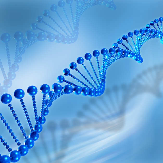 3d dna medical background Free Photo