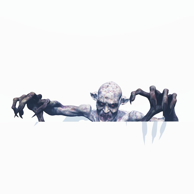 3d evil zombie Free Photo