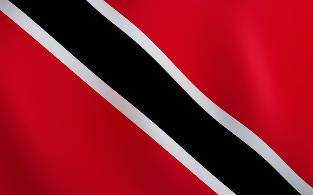 3d flag of trinidad and tobago. Premium Photo