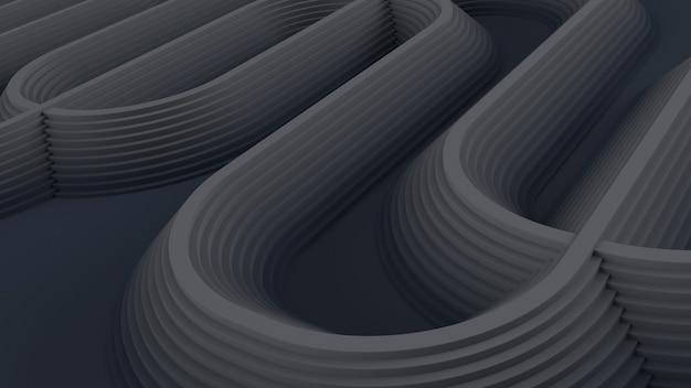 Sfondo astratto geometrico 3d Foto Gratuite