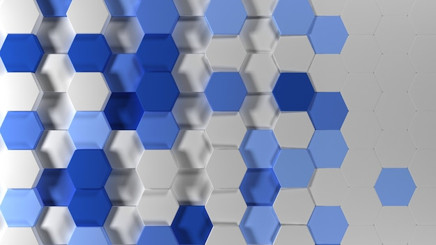 3d geometric abstract hexagonal wallpaper background Free Photo