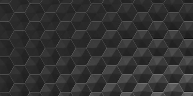 3d geometric abstract hexagonal wallpaper background Free Photo