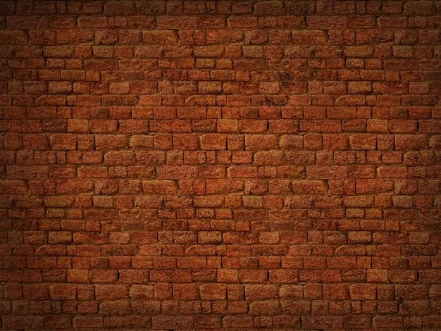 3d grunge brick wall texture Free Photo