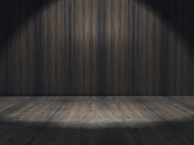 3d grunge interior with spotlight Free Photo