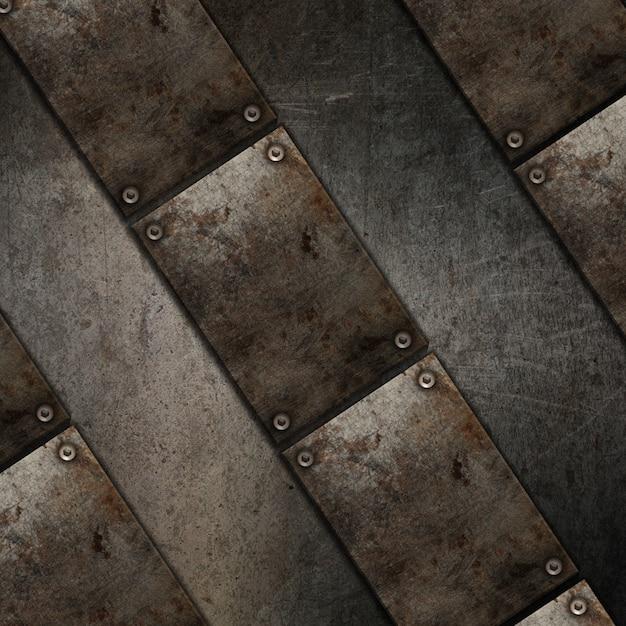 金属板のデザインと3 dグランジテクスチャ背景 無料写真
