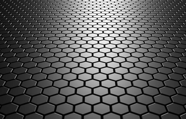 六角形の3dイラスト抽象的な背景未来の技術ハニカムモザイクイラストデザインやバナー用 Premium写真
