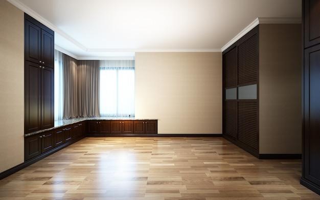 3d illustration beautiful bright room with sunlight passing through Premium Photo