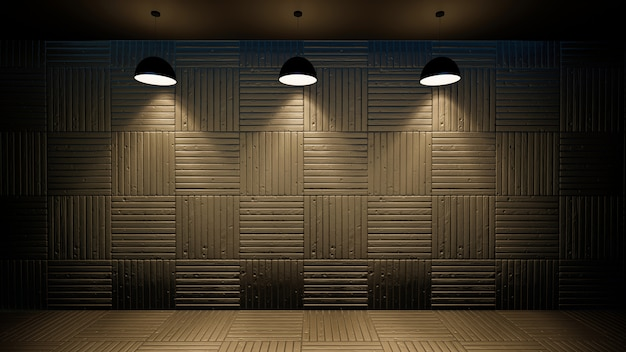 3d illustration of empty wall interior Premium Photo