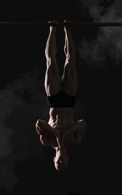 3d illustration human showing kung fu portrait of a handsome muscular ancient warrior with clipping path Premium Photo
