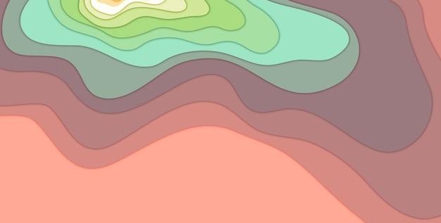 3d 그림 여러 가지 빛깔 된 종이 잘라 모양 배경 추상 3d 종이 아트 스타일 비즈니스 프레 젠 테이 션 전단지 포스터 인쇄, 장식, 카드, 브로셔. 프리미엄 사진
