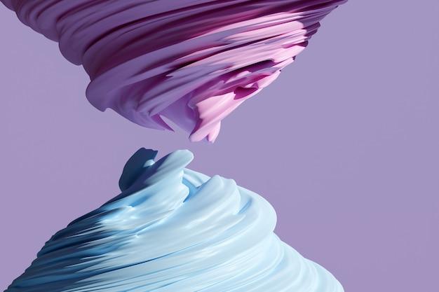 최면 패턴의 3d 그림입니다. 반짝이는 동그라미와 반짝이와 골드 배경으로 추상 분홍색. 고급스러운 배경 디자인 프리미엄 사진