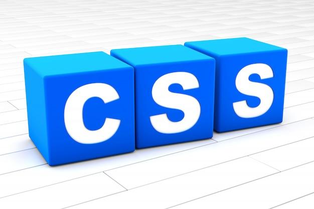 3d illustration of the word css Premium Photo