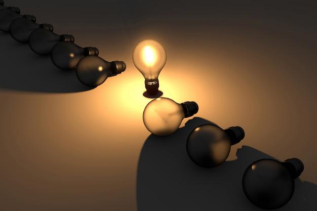 3d light bulb Premium Photo