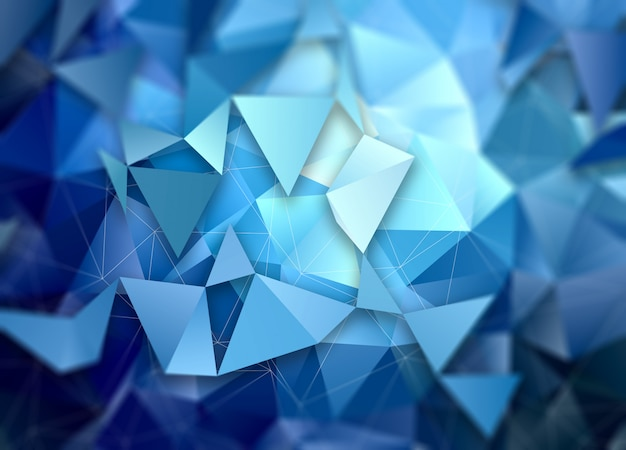 3d low poly abstract background Free Photo