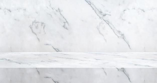 製品の表示のために織り目加工の3 d高級大理石テーブルスタジオの背景 Premium写真
