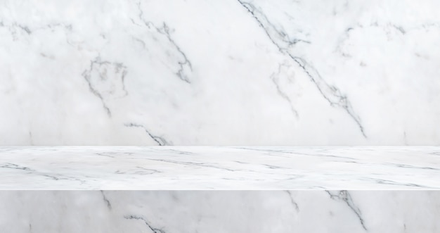 3d luxury marble table studio background textured for product display Premium Photo