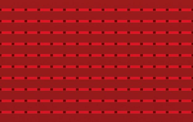3d-рендеринг. бесшовные matalic современный красный квадрат формы шаблон плитки стены дизайн текстуры фона. Premium Фотографии