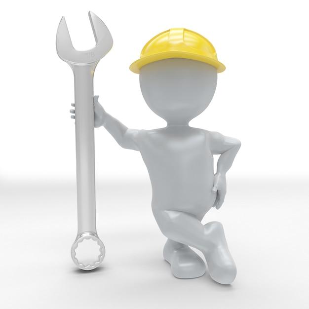 3d morph man builder con chiave Foto Gratuite