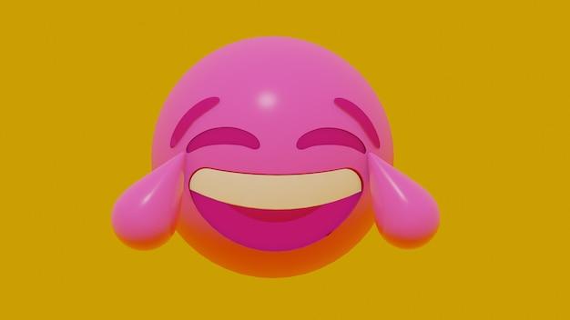 3d motion emoji face Premium Photo