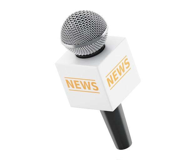 3d news microphone tv. news concept. Premium Photo