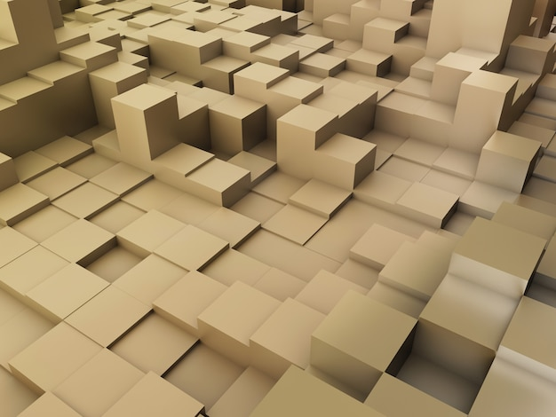 Rendering 3d di uno sfondo astratto di blocchi di estrusione Foto Gratuite
