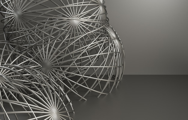 3d визуализация абстрактный фон для автомобиля Premium Фотографии