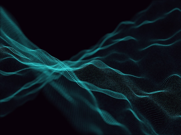 3d render of an abstract background with flowing particles Free Photo