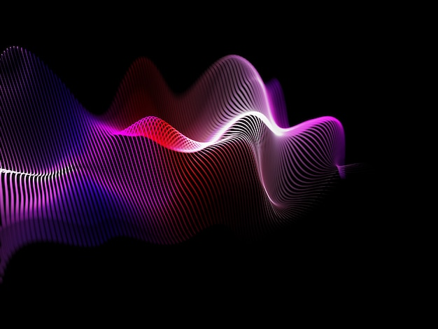 3d render of an abstract background with flowing sound waves design Premium Photo