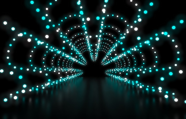 Dark Blue Abstract Background Futuristic Highway With Light