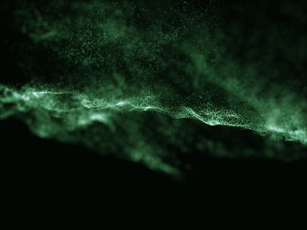 3d render of an abstract particle design background Free Photo