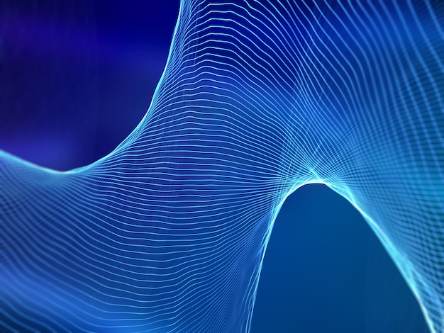 3d render of abstract sound waves. digital technology background Free Photo