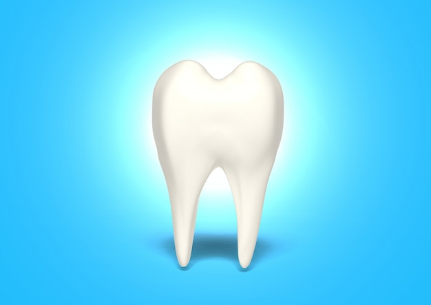 3d render clean tooth for healthy Premium Photo