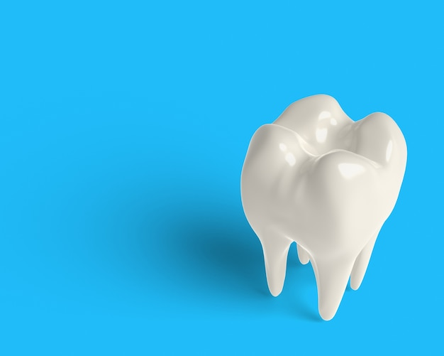 3d render clean tooth, whitening, clipping part Premium Photo
