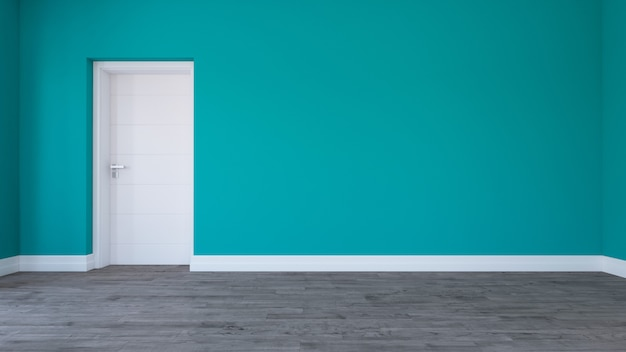 3d render of an empty room Free Photo