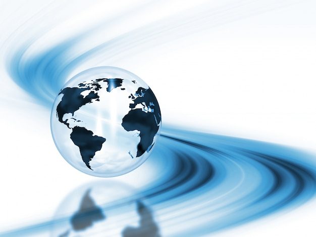 3d render of a globe on an abstract background Free Photo
