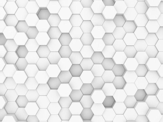 3d render of honeycomb white background abstract wall decorative in the bath Premium Photo