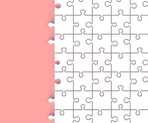 3d render minimal jigsaw Premium Photo