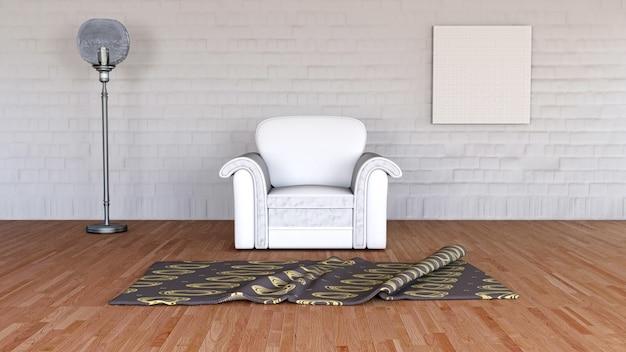 3d render of a minimalist room interior Free Photo