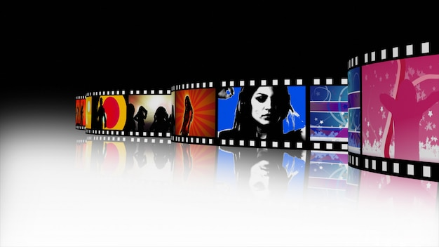 3d render of a music and dance film reel Premium Photo