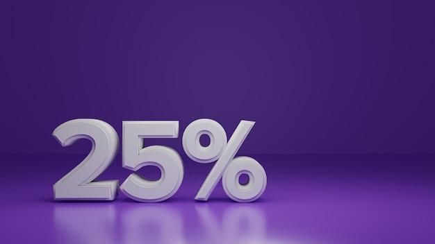 3d render со скидкой 25% на фиолетовый Premium Фотографии