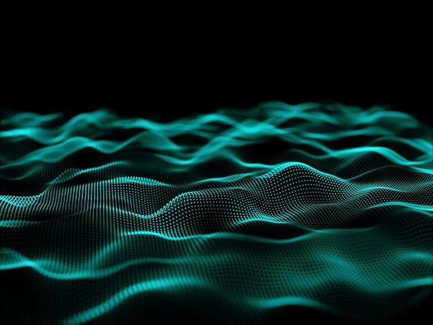 3d-рендеринг дизайна плавных частиц с кибер-частицами Бесплатные Фотографии