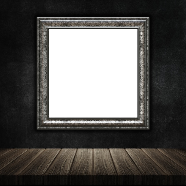 3d render of a grunge picture frame Photo | Free Download