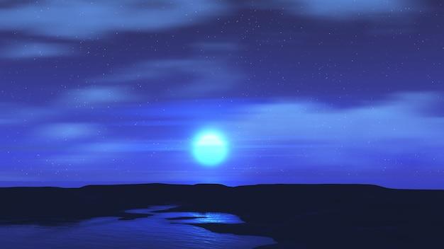 3d визуализация лунного пейзажа Бесплатные Фотографии