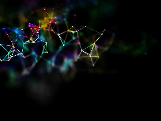 虹色の低ポリプレックスデザインの3dレンダリング 無料写真