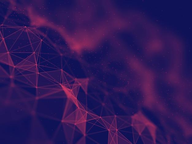3d визуализация технологического фона с дизайном структуры сетевых коммуникаций Бесплатные Фотографии