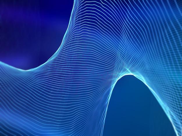 3d визуализация абстрактных звуковых волн. фон цифровых технологий Бесплатные Фотографии