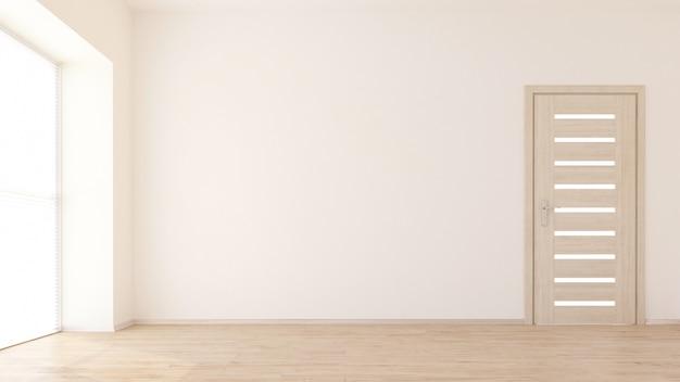 空の部屋のインテリアの3dレンダリング 無料写真