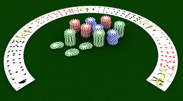 3d render of casino chips and playing cards 1048 5621