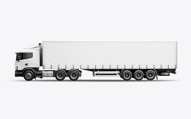 3d render of the truck Premium Photo